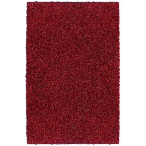 St Croix Trading Company Burgundy Shag Chenille Twist 1 Ft 9 In X 2 Ft 10 In Accent Rug Red Burgundy Rugs Area Rugs Rugs