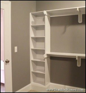 Walkin Closet Like The Small Sheves On Side And Hanging Area Needs Something Top So Space Is Not Wasted Could Add A Door To Shelves Then