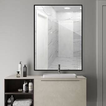 42+ Bathroom vanity mirror mounting height custom