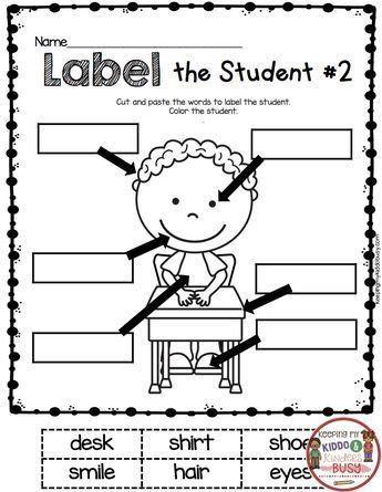 Labeling Worksheets For Kindergarten Kindergarten In August Freebies In 2020 Kindergarten Worksheets Kindergarten Writing Kindergarten Lessons