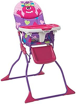 Cosco Simple Fold Deluxe High Chair Monster Shelley Baby Highchair Babyhighchair Baby Kids Chair