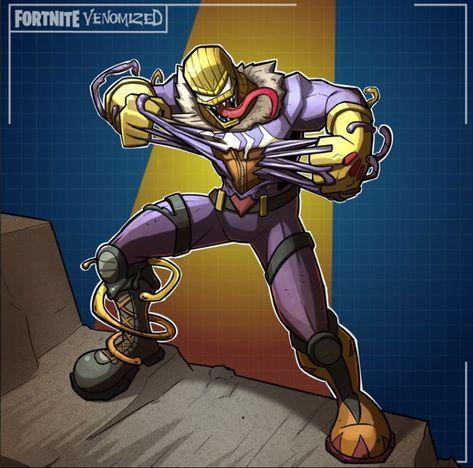 Drawing Venomized Fortnite Skins Symbiotes Marvel Carnage Marvel Drawings