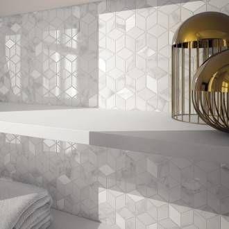 Faïence Mur Blanc Carrare Murano L305 X L56 Cm Leroy