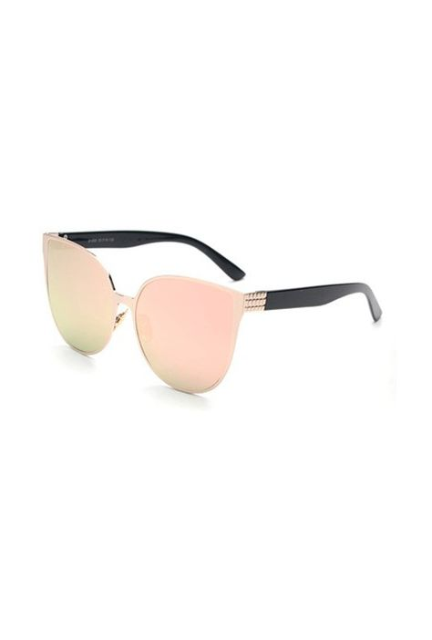 6d9ebc2a893 Sunglasses - Cat Eyes Mirrored Oversized Sunglasses in Rose Gold ...