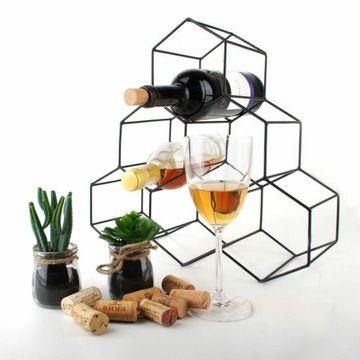 Stojak Na Wino 6 Butelek Alkohol Butelki Prezent 7821820396 Allegro Pl Wine Rack Decor Rack