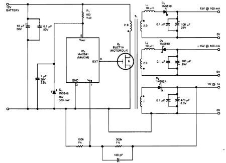 Bipolar 15 V And 5v Car Battery Circuit Dc Circuit