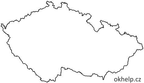 Slepa Mapa Cr Hory Omalovanky