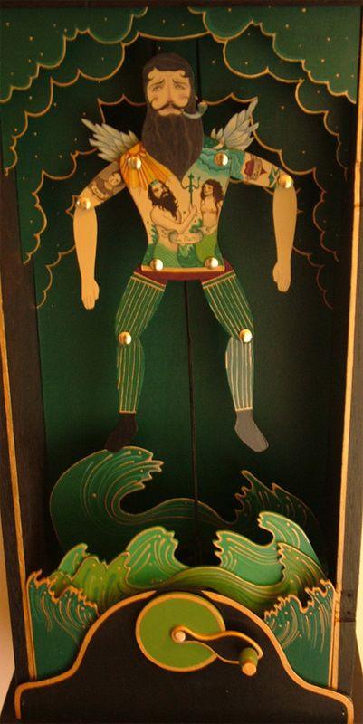A sailor makes his way to God (Wood Automata)