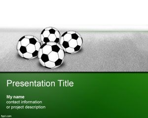 Soccer Championship Powerpoint Template Bola
