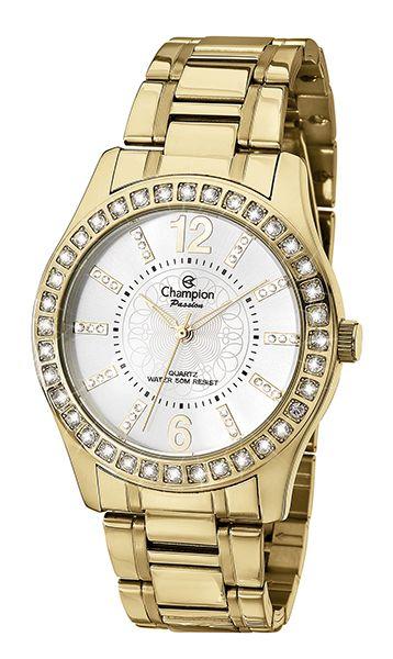 5665168746e Relógio Champion Passion Feminino Dourado CH24277H