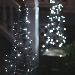 Genius Outdoor Christmas Light Ideas The Garden Glove Christmas Topiary Tomato Cage Christmas Tree Decorating With Christmas Lights