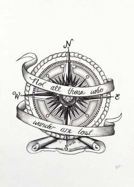 50 Ideas For Tattoo Designs Ideas Draw Compass Tattoo Vintage