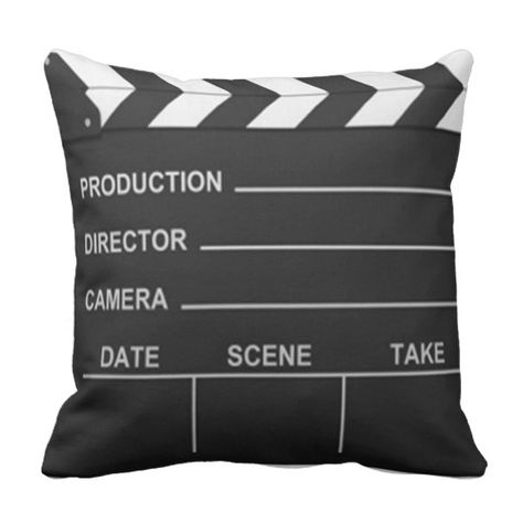 Lights Camera Action Pillow | Zazzle