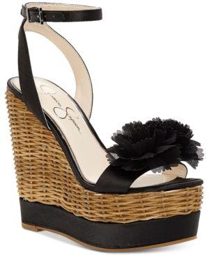 d2d9abc98f7 Jessica Simpson Pressa Wedge Sandals - Black 9.5M