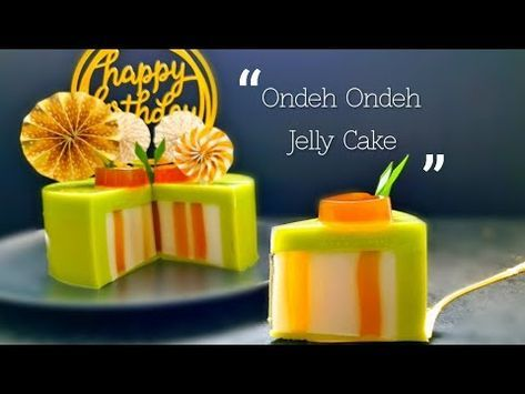 Resep Ondeh Ondeh Jelly Cake yang indah #littleduckkitchen