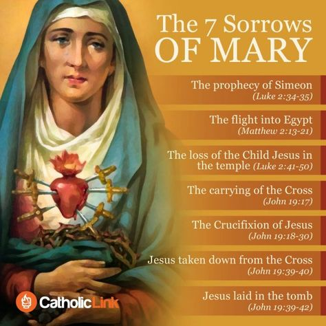 Infographic: The 7 Sorrows Of Virgin Mary | Catholic-Link
