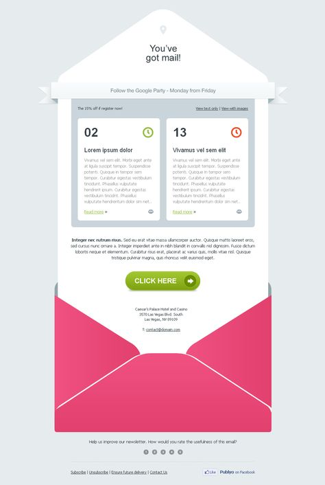 Design a responsive email template for mailchimp - professional email template