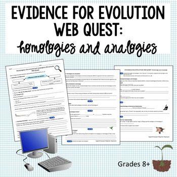 Evolution Homologous And Analogous Structures Web Quest Distance