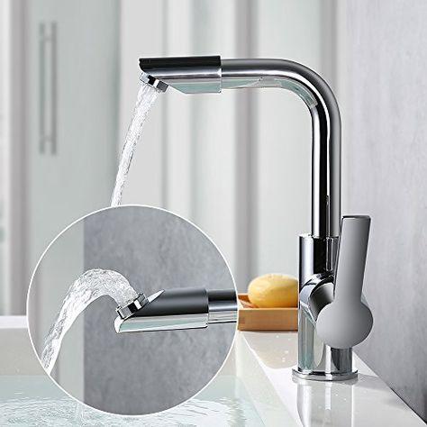 Homelody 360 Drehbar Auslauf Wasserhahn Bad Armatur Waschbecken
