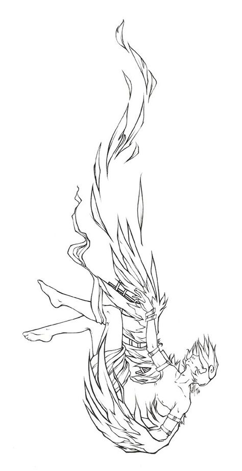 Falling Icarus tattoo