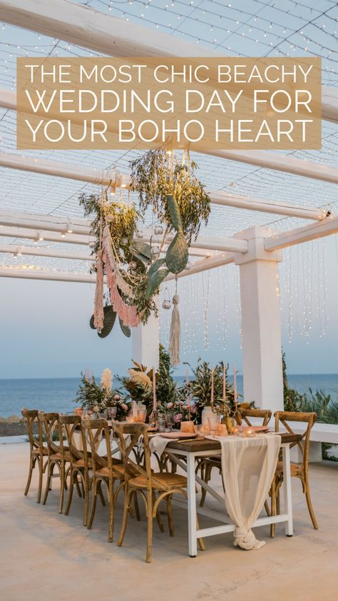 The Most Chic Beachy Wedding Day For Your Boho Heart #bohowedding #beachwedding #bohobeachwedding