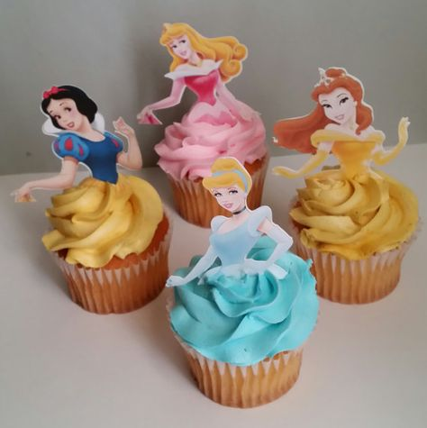 12 Princess cupcake toppers by diapercake4less on Etsy, $8.25