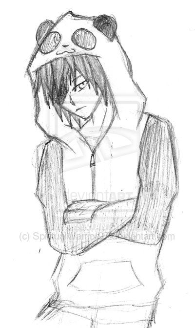 Anime Guy With Hoodie Drawing Sketch Template Anime Boy Sketch Anime Drawings Anime Drawings Boy