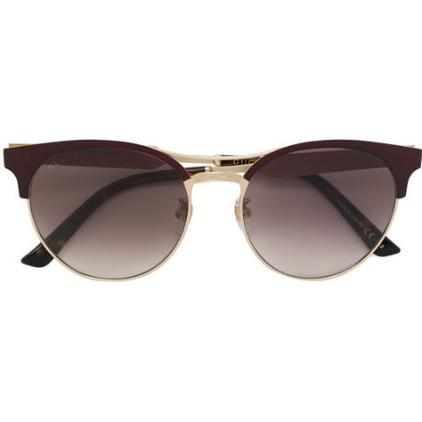 b9651ea0940 Gucci Eyewear round frame sunglasses (€405) ❤ liked on Polyvore featuring  accessories