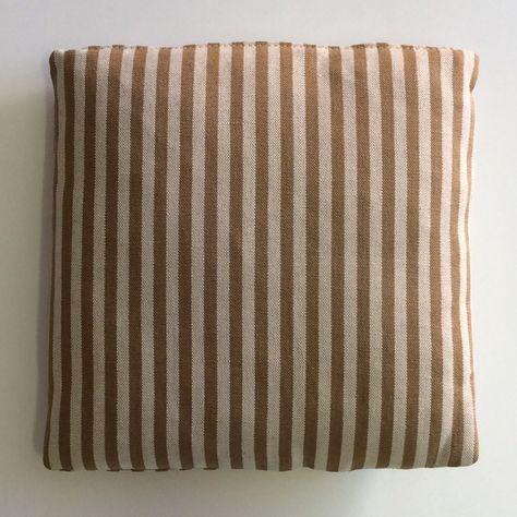 Cuscini Ecru.Cuscino In Lino Ecru Righe Sabbia Cm 30x30 Cuscini Decorazioni