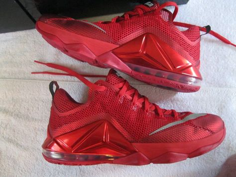 46b29969f53e Awesome Mens Nike Lebron XII 12 Low Red October Athletic Tennis Shoes Size  13