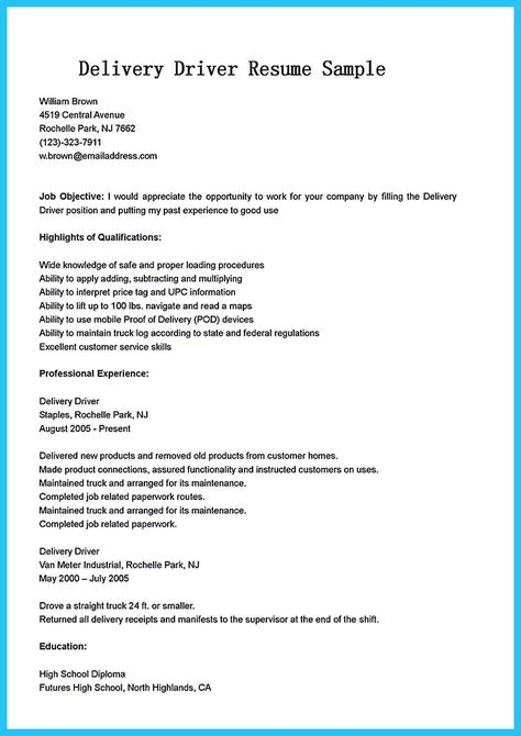 cool Simple but Serious Mistake in Making CDL Driver Resume - school bus driver resume