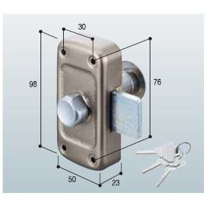 ドアノブ goal 面付本締錠 md 5 鍵3本付き ドアノブ 鍵付き