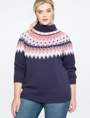 lowest discount cute choose clearance Fair Isle Sweater | Women's Plus Size Tops | Anne Marie ...