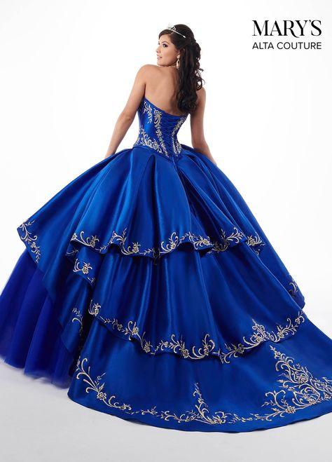 Marys Bridal MQ3020 Layered Skirt Quinceanera Dress Dress - MadameBridal.com