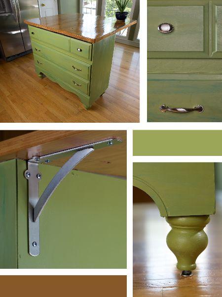 Transformed: Vintage Dresser To Kitchen Island | Dresser, Nest And Kitchens