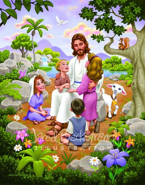 This is a print that portrays Christ with the Children.  It will come in a standard size, 11 x 14 inches with protected packaging. I am a Disney Animator and have always wanted to make connections with the youth. I feel like my Disney style will connect with families looking for a fun style. A few