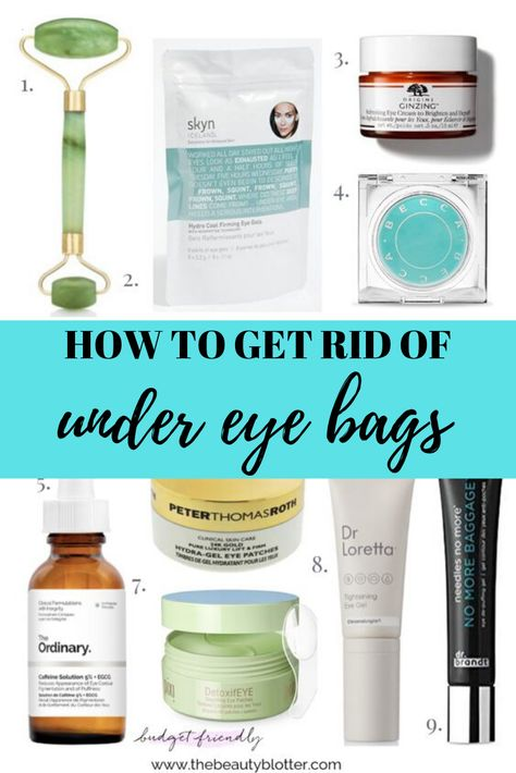 HOW TO GET RID OF UNDER EYE BAGS | I am sharing my best tips & product recommendations for how to get rid of under eye bags on the blog today, including some great bargain options. I share my tried and true puffy eye remedy. #undereyebags #undereyebagsremedy #over40 #puffyeyes #HealthyBeautyTips