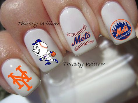 New York Mets Nail Decals by ThirstyWillow on Etsy