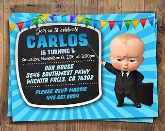 Invita Invitación Baby Boss Boss Bebé Cumpleaños Bebé Jefe