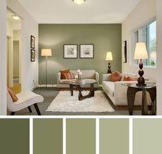 Colores Verde Seco Decoracion De Interiores Salas Combinaciones De Colores Interiores Decoracion De Interiores