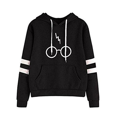 Donna Autunno Manica Lunga Cappotto Giacca Felpa con Cappuccio Gli Occhiali Harry Potter Stampare Sweatshirt Hoodies Casual Pullover
