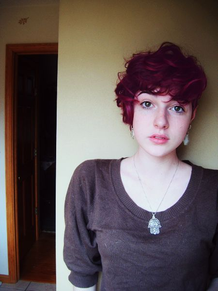 Curly pixie cut tumblr