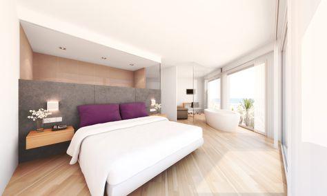 Reforma Hotel Bayren en Gandia. 3D Dormitorio
