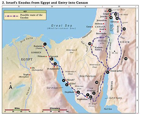 Red Sea Victory Midrash EXODUSROUTESTRAITOFTIRAN Torah - Detailed map of egypt and jordan