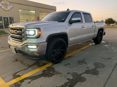 2018 Gmc Sierra 1500 24x10 15mm Helo He913 In 2020 Gmc Sierra