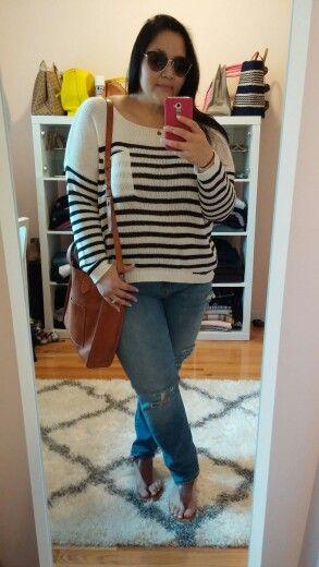 Rustic nautical for OOTD #blushandgray #fashionblogger #ootd #droptheplus