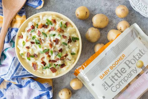 This Classic Potato Salad with Bacon is perfect for all of your summer barbecues and cookouts! It's creamy, tangy and a little smoky with the help of crispy bacon. A make ahead side dish to go with grilled meat!