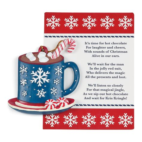 Legend of the Hot Chocolate Ornaments - OrientalTrading.com  Diane this poem would be great to add to your coco gift mugs.