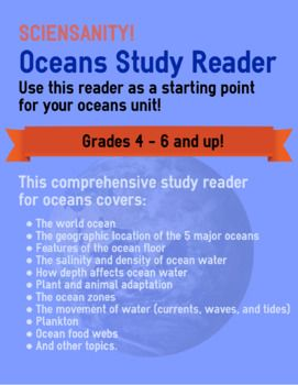 This Is A Comprehensive Study Reader For Oceans It Covers The World Ocean The Geographic Location Of The 5 Major Ocean Ocean Zones Studying Math Major Oceans