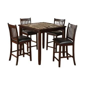 37+ Sela 5 piece counter height solid wood dining set Ideas